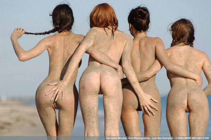 Can Four girl beatch naked what